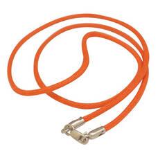 Гайтан на шею оранжевого цвета из хлопка с замком из серебра 13171-31