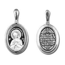 Подвеска серебряная Ag 925 «Богородица (Умиление)» (арт. 13121-216)