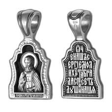 Натальная иконка из серебра Ag 925 «Сергий Радонежский» (арт. 13121-319)