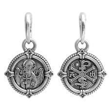 Натальная иконка «Ангел-Хранитель, Хризма» из серебра Ag 925 (арт. 13121-333)