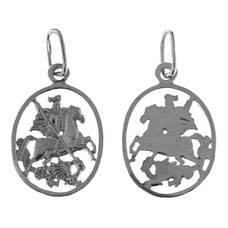 Нательный образок серебряная Ag 925 «Георгий Победоносец» (арт. 13121-626)