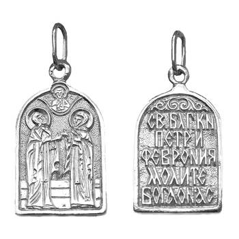 Нательный образок из серебра Ag 925 «Петр и Феврония» (арт. 13121-631)