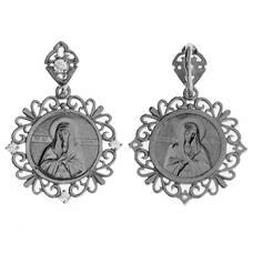 Натальная иконка серебряная Ag 925 «Богородица (Умиление)» (арт. 13121-661)