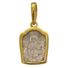 Нательный образок «Всецарица БМ» серебряная Ag 925 (арт. 13122-148)
