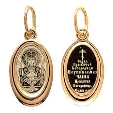 Подвеска из серебра Ag 925 «Богородица (Неупиваемая чаша)» (арт. 13122-222)