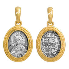 Подвеска «Богородица (Умиление)» серебряная Ag 925 (арт. 13122-33)