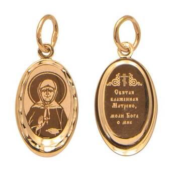 Подвеска из золота Au 585 «Матрона Московская» (арт. 13123-118)