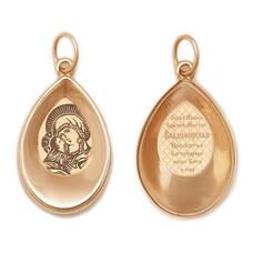 Подвеска золотая Au 585 «Богородица (Владимирская)» (арт. 13123-29)