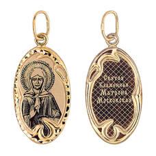 Образок из золота Au 585 «Матрона Московская» (арт. 13123-60)