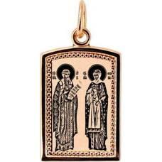 Образок золото Au 585 «Петр и Феврония» (арт. 13123-65)