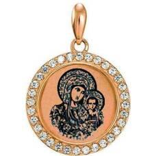 Подвеска золотая Au 585 «Богородица (Казанская)» (арт. 13123-66)