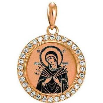 Образок золотая Au 585 «Богородица (Семистрельная, Умягчение злых сердец)» (арт. 13123-67)
