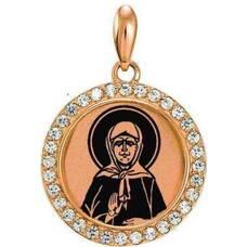 Натальная иконка золото Au 585 «Матрона Московская» (арт. 13123-69)