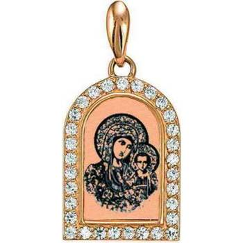 Натальная иконка золотая Au 585 «Богородица (Казанская)» (арт. 13123-70)