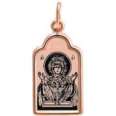 Подвеска золотая Au 585 «Богородица (Неупиваемая чаша)» (арт. 13123-76)