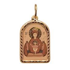 Образок из золота Au 585 «Богородица (Неупиваемая чаша)» (арт. 13123-9)