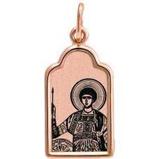 Подвеска из золота Au 585 «Георгий Победоносец» (арт. 13123-91)