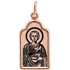 Подвеска золотая Au 585 «Пантелеймон Целитель» (арт. 13123-95)
