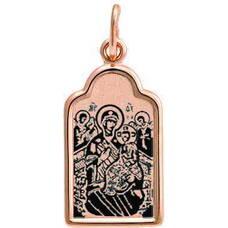 Натальная иконка золотая Au 585 «Всецарица БМ» (арт. 13123-96)