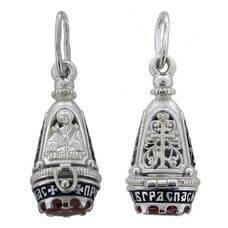 Ладанка из серебра Ag 925 «Богородица (Семистрельная, Умягчение злых сердец)» (арт. 13131-1)