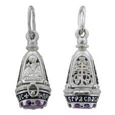 Ладанка «Богородица (Семистрельная, Умягчение злых сердец)» серебряная Ag 925 (арт. 13131-4)