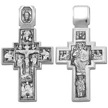 Крестик нательный из серебра (арт. 13111-110)