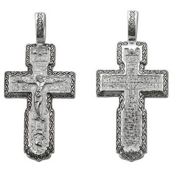 Крестик нательный из серебра (арт. 13111-120)