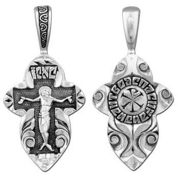 Крест нательный из серебра (арт. 13111-139)