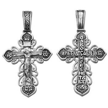 Крест православный серебряный (арт. 13111-154)