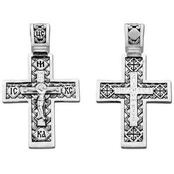 Крест православный из серебра (арт. 13111-160)