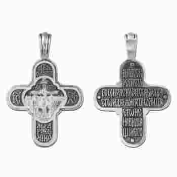 Крестик православный серебро «Да воскреснет Бог...» (арт. 13111-171)