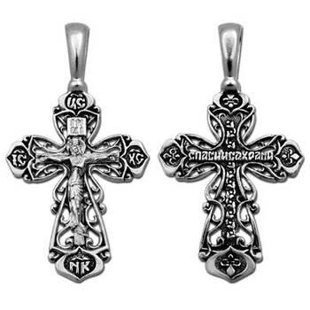 Крестик православный из серебра (арт. 13111-172)