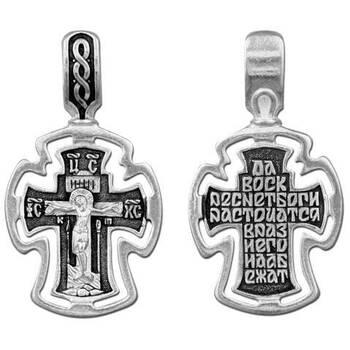 Крестик нательный из серебра (арт. 13111-175)