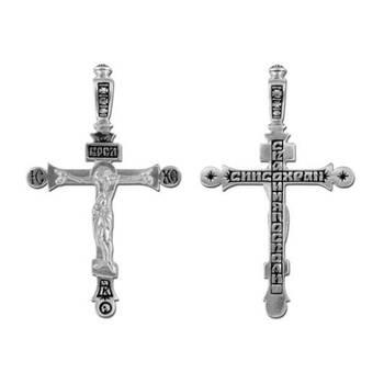 Крест нательный из серебра (арт. 13111-194)
