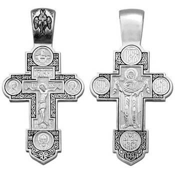 Крест нательный из серебра (арт. 13111-197)