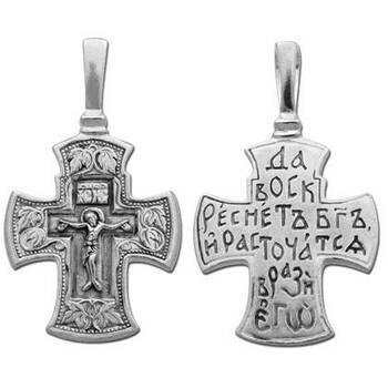 Крестик православный из серебра (арт. 13111-201)