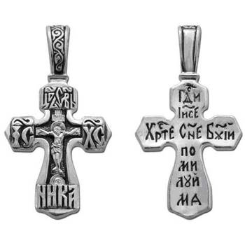 Крестик нательный серебряный (арт. 13111-216)