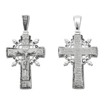 Крест православный серебряный (арт. 13111-22)