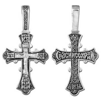 Крест из серебра (арт. 13111-255)