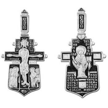 Крестик нательный из серебра «Николай Чудотворец» (арт. 13111-258)