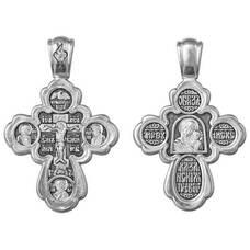 Крест православный серебро «Богородица (Казанская)» (арт. 13111-263)