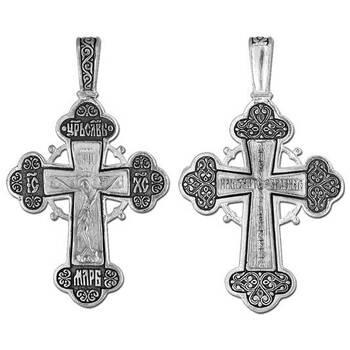 Крестик православный серебро «Спаси и сохрани» (арт. 13111-39)