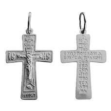 Крест православный серебро «Кресту твоему поклоняемся, Владыко» (арт. 13111-402)