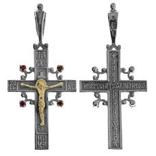 Крест из серебра и золота Au 585 (арт. 13111-471)