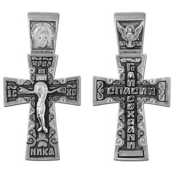 Крестик православный серебро (арт. 13111-72)