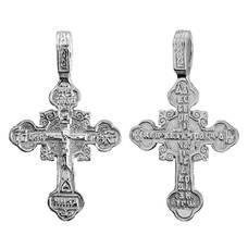 Крест православный серебро «Спаси и сохрани» (арт. 13111-769)