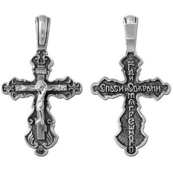 Крест православный из серебра (арт. 13111-81)