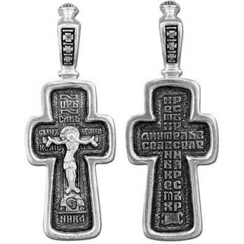 Крест нательный серебряный (арт. 13111-84)