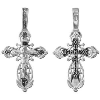 Крест из серебра «Спаси и сохрани» (арт. 13111-85)