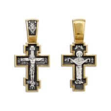 Крест православный серебро «Богородица (Покрова)» (арт. 13112-162)